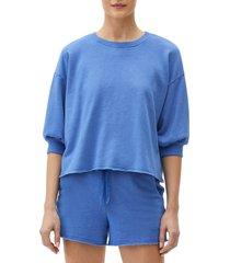 women's michael stars julia puff sleeve pullover, size x-small - blue