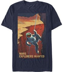 nasa men's mars explores wanted short sleeve t-shirt
