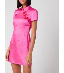 de la vali women's suki dress - hot pink - uk 12