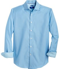 egara blue dobby stripe sport shirt