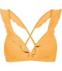 bikini beachlife warme abrikoos multi-positie golvende zwempak top
