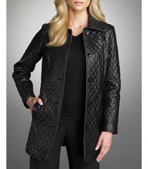 womens black quilted leather coat, women quilted leather jacket, womens fashion