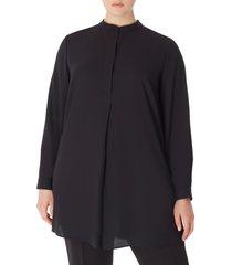 anne klein tunic shirt, size 2x in anne black at nordstrom