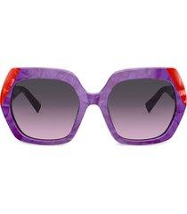 alain mikli oversized sunglasses - purple