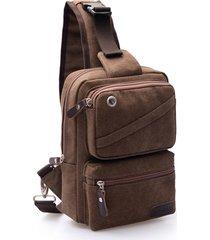 big capacity chest borsa multi functional canvas crossbody borsa sling borsa per uomo