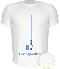 camiseta manga curta nerderia like skywalker branco - branco - masculino - dafiti