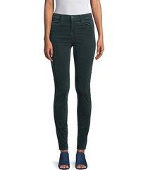 j brand women's maria skinny velvet pants - dark iris - size 23 (00)