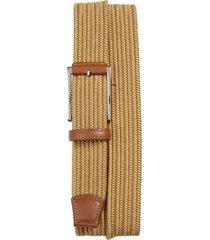 men's torino woven cotton belt, size 46 - khaki
