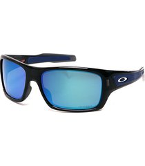 gafas negras-azules oakley turbine