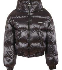 chiara ferragni vinyl down jacket