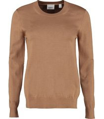 burberry merino wool pullover with elbow-patches