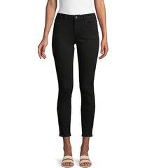 dl1961 premium denim women's mid-rise ankle dark jeans - onyx - size 30 (8-10)