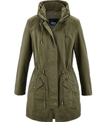 parka corto in cotone (verde) - bpc bonprix collection