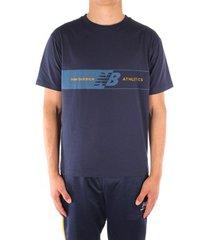 t-shirt korte mouw new balance mt01510ngo