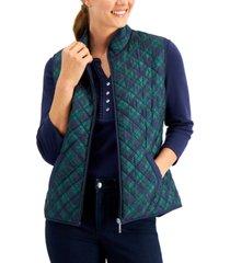 karen scott charlie plaid vest, created for macy's