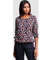 blouse alba moda marine::rood::offwhite::grijs
