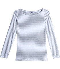 camiseta mujer cuello bandeja color gris, talla 10