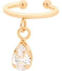 brinco bijoulux piercing de pressão ear cuff gota zircônia semi jóia.