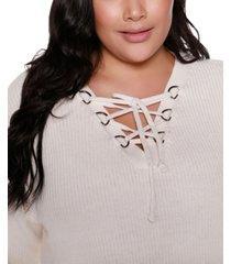 belldini black label plus size v-neck pullover