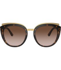 women's dolce & gabbana butterfly 54mm sunglasses - havana/ brown gradient
