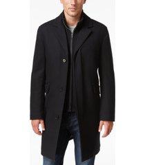 cole haan men's twill bibby overcoat