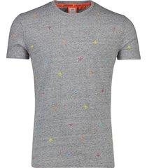 superdry t-shirt grijs gemeleerd vliegtuigen