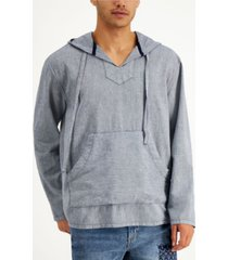 sun + stone men's textured popover hoodie, created for macy's