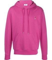 ami ami de coeur hooded sweater - pink
