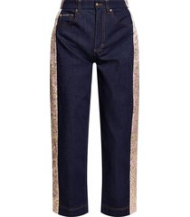 jeans met decoratieve applicatie