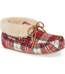women's minnetonka 'chrissy' slipper bootie, size 6 m - red