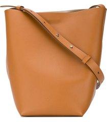 aesther ekme midi sac adjustable strap shoulder bag - neutrals