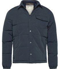 jackets outdoor woven doorgestikte jas blauw esprit casual