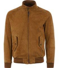 baracuta g9 suede harrington jacket - tobacco brcps0573ut1132706