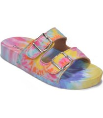 cape robbin women's jeweled double band flat sandals women's shoes