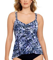 swim solutions gentle moves high-low princess-seam tankini top, created for macy's women's swimsuit