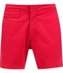 amir slama mid rise swim shorts - red