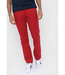 pantalón  rojo tommy hilfiger custom fit chino pant