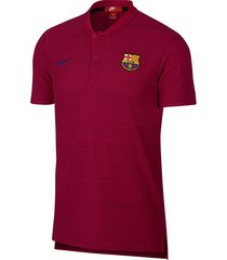 camiseta polo nike fc barcelona grand slam para hombre - bordó