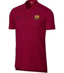 camiseta polo nike fc barcelona grand slam para hombre - bordó