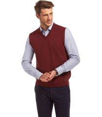 sweater business sin mangas rojo ferouch