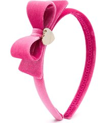 monnalisa velvet thin headband - pink