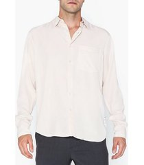 l'homme rouge original tencel shirt skjortor pale