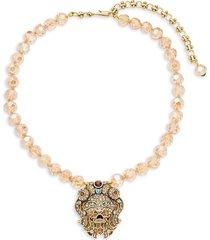 heidi daus women's lion crystal rhinestone necklace