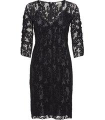 total dress jurk knielengte zwart valerie