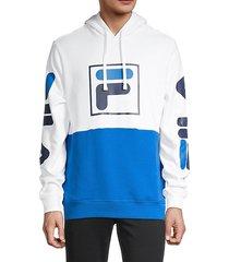 marzio colorblock logo hoodie