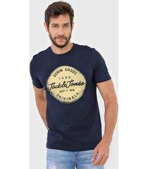 camiseta jack & jones jortorino azul-marinho - azul marinho - masculino - algodã£o - dafiti