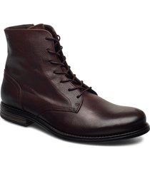 shank leather shoe snörade stövlar brun sneaky steve