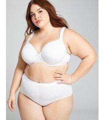 lane bryant women's cotton full brief panty 26/28 white