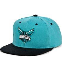mitchell & ness charlotte hornets minted snapback cap
