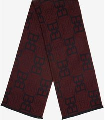 b-chain jacquard scarf red 1